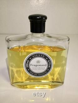 RARE Fragonard SIESTE Grasse Paris EZE Eau de Toilette Splash 6,7 oz