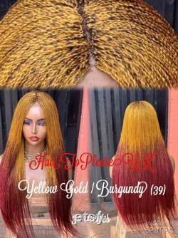 READY TO SHIP-Braided Wig Made Braided Lace Twists Braid Wig Human Hair Closure