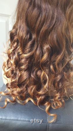 Rémy Extensions de cheveux humains . Clip dans les extensions Brown ( 4) Honey Golden Blonde. Cheveux humains européens. 100g Ensemble 6 pièces