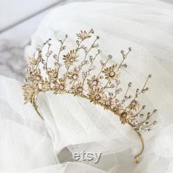 SYLPH Mariage diadème nuptial Or Argent