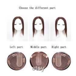 Topper de cheveux humains pour amincir les cheveux avec la base en soie. Peut couper les franges librement.10Un matériau de qualité. Topper de cheveux pour le volume