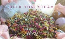 Vapeur de Yoni biologique (fr) En vrac 1 livre. 32 Herbal Yoni Steams France Lavande, Romarin, Calendula, Pétales de Rose, Origan