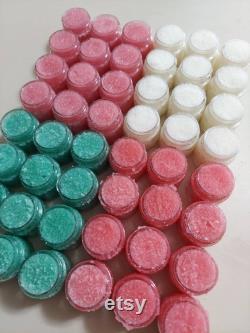 Vente en gros Lip Scrubs 24 Jars Par commande Concevoir vos propres étiquettes Choisissez deux saveurs