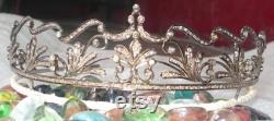 Victorian Rose Cut Diamond Tiaras, 8.12ct Diamond, Silver Purity 92.5 ,Handmade Tiaras Crown