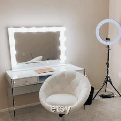 XL 40 X 28 Hollywood style lighted vanity makeup mirror tabletop or wall mount XL 40 X 28 Hollywood style lighted vanity makeup mirror tabletop or wall mount XL 40 X 28 Hollywood style lighted vanity makeup mirror tabletop or wall mount XL