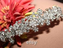 bandeau en cristal swarovski, bandeau de mariage en cristal, casque de mariage, bandeau nuptial argent antique, casque nuptial en cristal