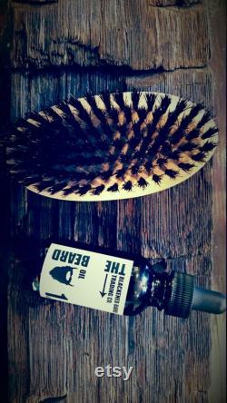 édition spéciale barbe kit livraison gratuite barbe Baume 1oz 2oz Baume barbe sanglier cheveux brosse huile barbe kit de soins naturel