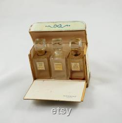 vintage Perfume Packaging, Bienaime, Three Miniature Perfume Bottles in the Original Packaging, Robert Bienaime, France, années 1930